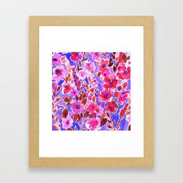 Isla Floral Purple Framed Art Print