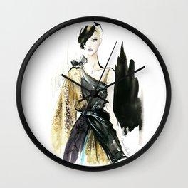 NYFW Fashion Illustrations Wall Clock