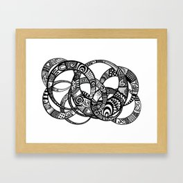 Interlinking Framed Art Print