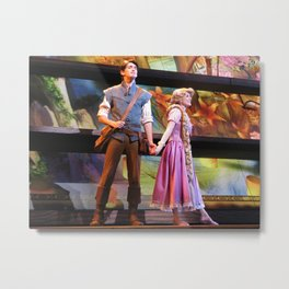 Flynn Rider and Rapunzel, Mickey and the Magical Map at Disneyland Metal Print