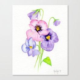 Pretty Pansies Canvas Print