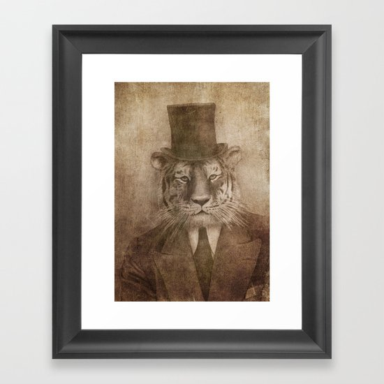 Sir Tiger Framed Art Print