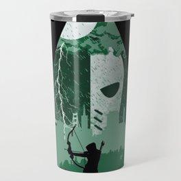 Arrow green Travel Mug