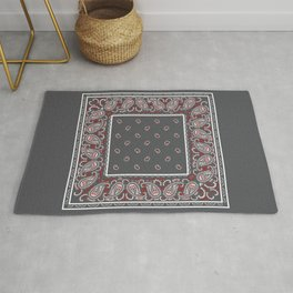 Wicked Gray Bandana Rug