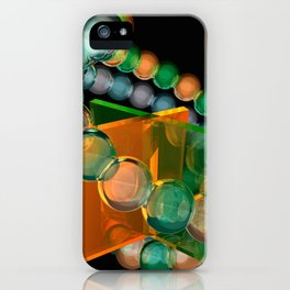 orange and green glass iPhone Case