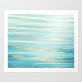 Water Ripples Photography, Aqua Blue Ocean Abstract Art, Turquoise Sea, Seascape Kunstdrucke