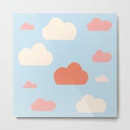 cloud blue and pink Metal Print