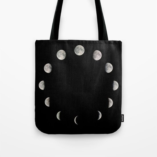 Moon Stages Tote Bag