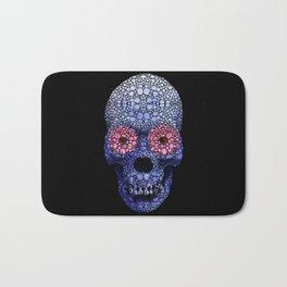Skull Art - Day Of The Dead 1 Stone Rock'd Bath Mat