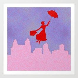 Girlie Miss Poppins  Art Print