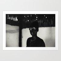 BLACK STAR SHINE Art Print