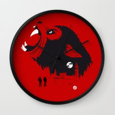 An American Werewolf (Red Collection) Wall Clock