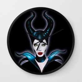 Maleficent (on Black) Wall Clock