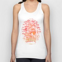 swimming Tank Tops featuring Burning In The Skies by Robson Borges