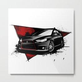 Mitsubishi Lancer EVO X Metal Print