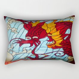 Dragon Stained Glass Rectangular Pillow