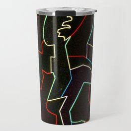 Collapsing Woman Travel Mug