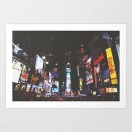 Evening Glow - Times Square Art Print