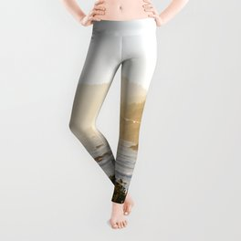 Route 1 along the Pacific Ocean in Northern California Leggings