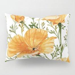 California Poppies - Watercolor Painting Pillow Sham