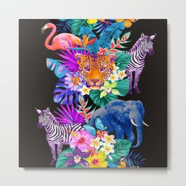 Tropical Animals Metal Print