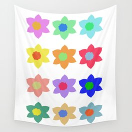Flowers - Multiple Colour Wall Tapestry
