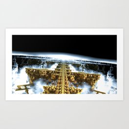 Our Cities Have Eroded Into Waterfalls Art Print