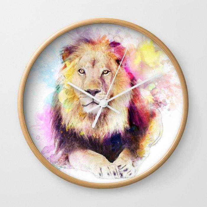 Sunny lion Wall Clock