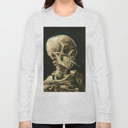 Van Gogh Head of a skeleton with a burning cigarette Long Sleeve T-shirt