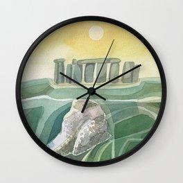 Stonehenge Wiltshire England Wall Clock