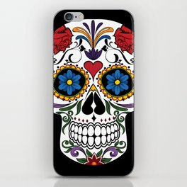 Colorful Sugar Skull iPhone Skin