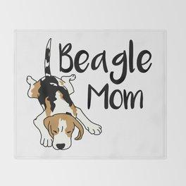 Beagle Mom Throw Blanket