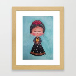 Frida - Watercolor Framed Art Print