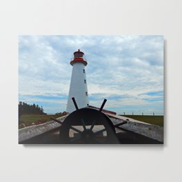 Sailing to Point Prim Lighthouse Metal Print