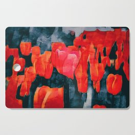 Tulip Field at Night Cutting Board