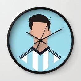 Minimalist World Cup - Messi Wall Clock