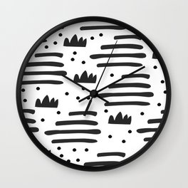 Abstract scandinavian art Wall Clock