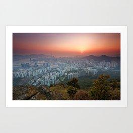 Sunrise over the City Art Print