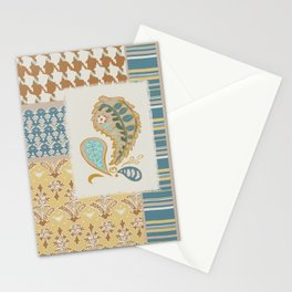Heirloom Vibe Patchwork Dulcimer Colorway Stationery Cards