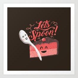 Let's Spoon Art Print