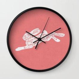 Alice in wonderland - pink Wall Clock