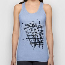 Sketch Black and White Unisex Tank Top