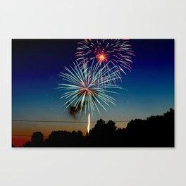 July 4th Fireworks Canvas Print