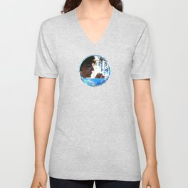 Crystals - Blue  Unisex V-Neck