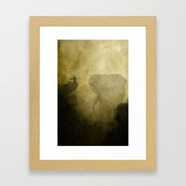 Elephant Caller Framed Art Print