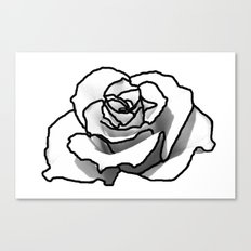 The outline of a Rose Canvas Print