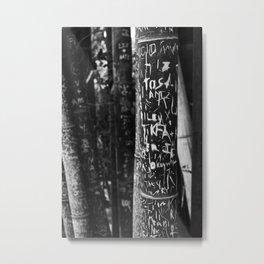 Carved Metal Print