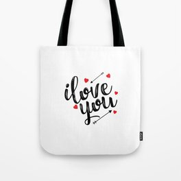 I love you typography Tote Bag