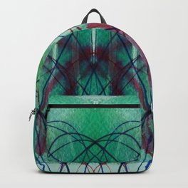 Symmetrical Turquise - 01 D - D Backpack