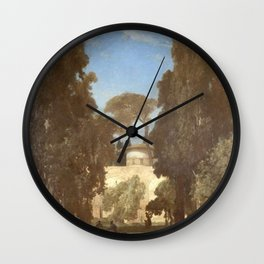 Jules Laurens - Derelict Gardens in Ashraf (Persia) Wall Clock